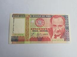 PERU' 50000 INTIS 1988 - Perù