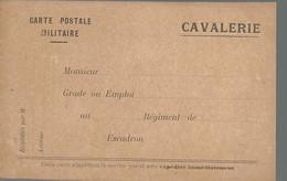 CARTE FRANCHISE MILITAIRE - 14/18 - CAVALERIE - NON ECRITE - TTBE - Marcophilie (Lettres)