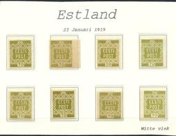 ESTLAND Estonia 1919 Michel 4 Lot Of Different Color Shades * - Estonie