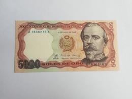 PERU' 5000 PESOS ORO 1985 - Perù