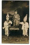 NIÑOS PAYASOS ARLEQUIN HARLEQUIN CLOWNS CHILDREN ENFANTS CIRCA 1900S POSTAL CARD -LILHU - Taferelen En Landschappen