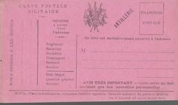 CARTE FRANCHISE MILITAIRE - 14/18 - ARTILLERIE (3) - NON ECRITE - TTBE - Marcophilie (Lettres)