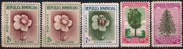 Dominican Republic 1957 1960 1956 Scott 489 538 471-472 MNH No Gum Flowers, Trees - Dominicaine (République)