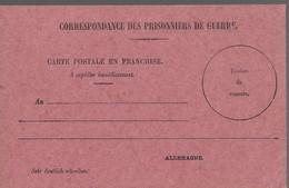 CARTE FRANCHISE MILITAIRE - 14/18 - PRISONNIERS DE GUERRE - NON ECRITE - TTBE - Marcophilie (Lettres)