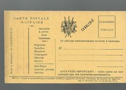 CARTE FRANCHISE MILITAIRE - 14/18 - CAVALERIE (3) - NON ECRITE - TTBE - Marcophilie (Lettres)