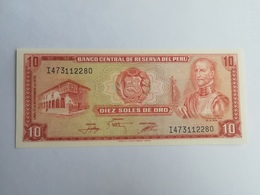 PERU' 10 SOLES DEORO 1976 - Perù