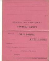 CARTE FRANCHISE MILITAIRE - 14/18 - ARTILLERIE -  CARTE DOUBLE - NON ECRITE - TTBE - Marcophilie (Lettres)