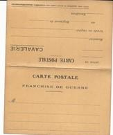 CARTE FRANCHISE MILITAIRE - 14/18 - CAVALERIE -  CARTE DOUBLE - NON ECRITE - TTBE - Marcophilie (Lettres)