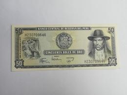 PERU' 50 SOLES DEORO 1977 - Perù