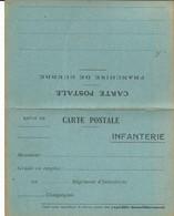 CARTE FRANCHISE MILITAIRE - 14/18 - INFANTERIE -  CARTE DOUBLE - NON ECRITE - TTBE - Marcophilie (Lettres)