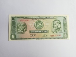 PERU' 5 SOLES DEORO 1974 - Perù