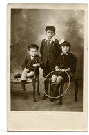 GRUPO NIÑOS HERMANOS  BROTHER SISTER CHILDREN ENFANTS CIRCA 1900S POSTAL CARD -LILHU - Groepen Kinderen En Familie