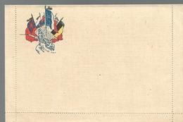 CARTE FRANCHISE MILITAIRE - 14/18 - CARTE LETTRE - DRAPEAUX - NON ECRITE - TTBE - Marcophilie (Lettres)