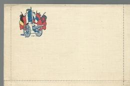 CARTE FRANCHISE MILITAIRE - 14/18 - CARTE LETTRE - DRAPEAUX ET CANON - NON ECRITE - TTBE - Marcophilie (Lettres)