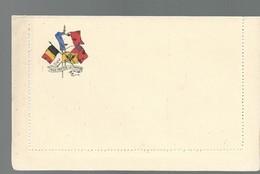 CARTE FRANCHISE MILITAIRE - 14/18 - CARTE LETTRE - DRAPEAUX (5) - NON ECRITE - TTBE - Marcophilie (Lettres)