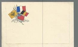 CARTE FRANCHISE MILITAIRE - 14/18 - CARTE LETTRE - DRAPEAUX (6) - NON ECRITE - TTBE - Marcophilie (Lettres)