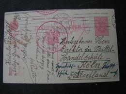 BG Feldpost 1917 Nach Köln - 1909-45 Königreich