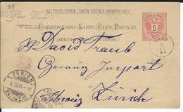 Österreich P51 Vils 3.12.85 Nach Zürich - Enteros Postales