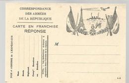 CARTE FRANCHISE MILITAIRE - 14/18 - TOUR EIFFEL - NON ECRITE - TTBE - Marcophilie (Lettres)