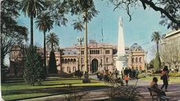 BUENOS AIRES. PLAZA DE MAYO. CASA DE GOBIERNO, PIRAMIDE E MAYO. EDICOLOR. CIRCULEE 1986 A USA FRANQUEO MECANICO- BLEUP - Argentinië