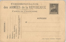 CARTE FRANCHISE MILITAIRE - 14/18 - JOFFRE - NON ECRITE - TTBE - Marcophilie (Lettres)