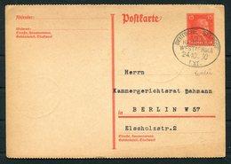 1930 Germany Deutsche Seepost Schiffspost Hamburg West Afrika Ship WADAI Stationery Postcard - Deutschland