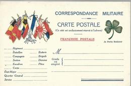 CARTE FRANCHISE MILITAIRE - 14/18 - PORTE BONHEUR - NON ECRITE - TTBE - Marcophilie (Lettres)