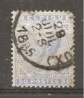 Bélgica - Belgium - Yvert  41 (usado) (o) (defectuoso) - 1869-1883 Leopold II