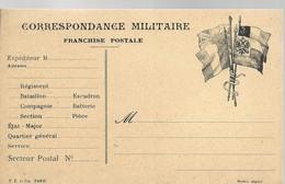CARTE FRANCHISE MILITAIRE - 14/18 - DRAPEAUX - NON ECRITE - TTBE - Marcophilie (Lettres)