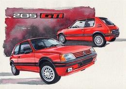 @@@ MAGNET - Peugeot 205 Gti - Publicitaires