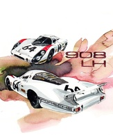 @@@ MAGNET - Porsche 908lh Racing Car - Publicitaires