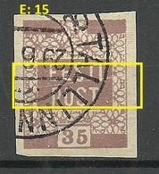 ESTLAND Estonia 1919 Michel 3 E: 15 ERROR Abart Variety O - Estonie