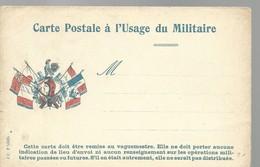 CARTE FRANCHISE MILITAIRE - 14/18 - MARIANNE ET COQ - NON ECRITE - TTBE - Marcophilie (Lettres)