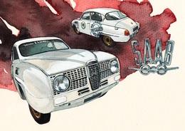 @@@ MAGNET - Saab 96 - Publicitaires