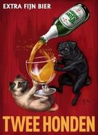 @@@ MAGNET - Twee Honden Extra Fijn Bier - Publicitaires