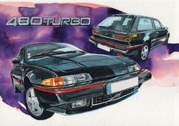 @@@ MAGNET - Volvo 480 Turbo - Publicitaires