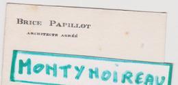 Vieux  Papier :  Carte De  Visite :  Architecte Brice Papillot  à  Brest , Finistère - Cartes De Visite