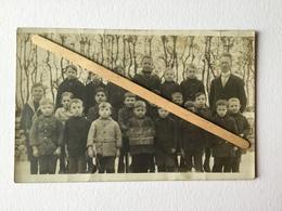 GENAPPE ,VIEUX - GENAPPE »ÉCOLE C De VIEUX-GENAPPE Classe De Garçons   (6 -2-1922 )»Photo-Carte. - Genappe
