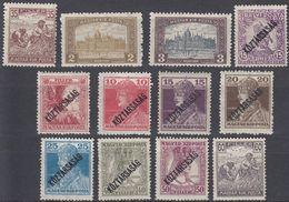 UNGHERIA - 1917/1918 - Lotto Di 12 Valori Nuovi MNH, MH O Senza Gomma: Yvert 173, 179, 180, 196, 197, 211/216, 292. - Ungheria