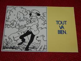 """FANTAISIES - HUMOUR  BD -  """" Tintin Et Tournesol """" De Hergé : Tout Va Bien - Bandes Dessinées"""