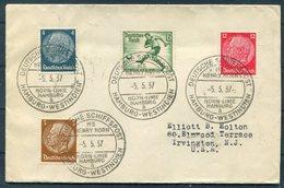 1937 Germany Deutsche Seepost Schiffspost Hamburg-Westindien, Hamburg Horn Linie MS HENRY HORN Cover - Deutschland