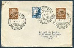1937 Germany Deutsche Seepost Schiffspost Hamburg-Westindien, Hamburg Horn Linie MS INGRID HORN Cover - Deutschland