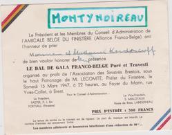 Vieux  Papier :   ; Brest , Finistère :amicale Franco - Belge , Le  Bal 1947 , Landerneau , Portsall - Mariage