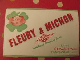 Buvard Fleury & Michon L'exquis Paris Pouzauges Vendée Concarneau Finistère . Cochon Porc - Alimentaire