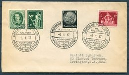 1937 Germany Deutsche Seepost Schiffspost Hamburg-Westindien, Hamburg Horn Linie MS H.C. HORN Cover + Letter - Deutschland