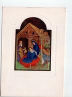 """U4076 Cartolina """"Casa Di Redenzione Sociale Niguardia"""" - PARIGI, BIBLIOTECA MAZARINE: """"natività"""" Miniatura - Musei"""