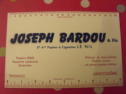Buvard Joseph Bardou Papier à Cigarettes Le Nil. Angoulème. Papier Bible Avion Pelure - Papeterie