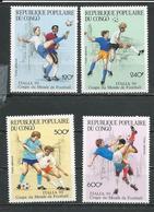 CONGO Scott C400-C403 Yvert PA394-PA397 (4) ** Cote 12,60 $ 1990 - Congo - Brazzaville