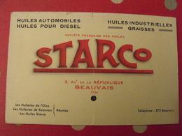 Buvard Starco. Huile Automobile, Diesel, Industrielle. Beauvais - Automotive
