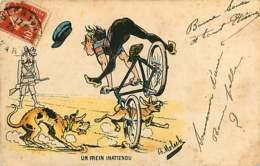 041218 - Illustrateur MOLOCH - Un Frein Inattendu - Vélo Chasse Chien Lapin Lièvre Humour - Moloch